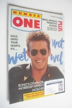 NUMBER ONE Magazine - Marti Pellow cover (19 March 1988)