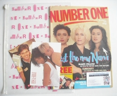 <!--1988-03-26-->NUMBER ONE Magazine - Bananarama cover (26 March 1988)