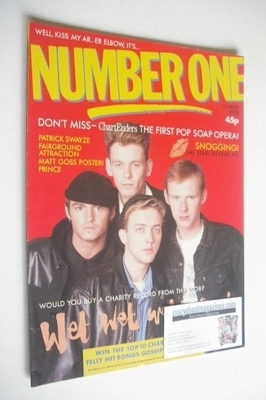 <!--1988-05-21-->NUMBER ONE Magazine - Wet Wet Wet cover (21 May 1988)
