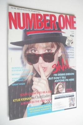 <!--1988-06-04-->NUMBER ONE Magazine - Debbie Gibson cover (4 June 1988)