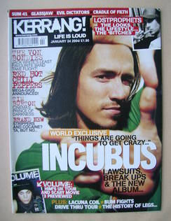 <!--2004-01-24-->Kerrang magazine - Brandon Boyd cover (24 January 2004 - I