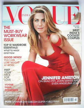 <!--2009-02-->Vogue India magazine - February 2009 - Jennifer Aniston cover