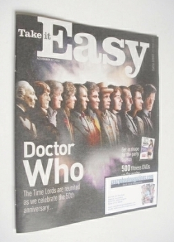 <!--2013-11-17-->Take It Easy magazine - Doctor Who cover (17 November 2013)