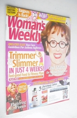 <!--2013-10-29-->Woman's Weekly magazine (29 October 2013 - Una Stubbs cove