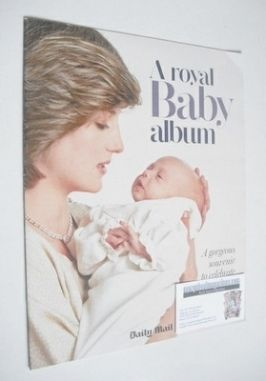 A Royal Baby Album - Princess Diana and Prince William cover (Daily Mail su