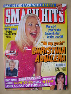 <!--1999-10-06-->Smash Hits magazine - Christina Aguilera cover (6 October