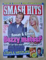 <!--1999-11-17-->Smash Hits magazine - Ronan Keating and Emma Bunton cover (17 November 1999)