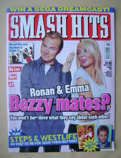 <!--1999-11-17-->Smash Hits magazine - Ronan Keating and Emma Bunton cover