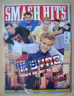 <!--2000-09-06-->Smash Hits magazine - 'N Sync cover (6 September 2000)