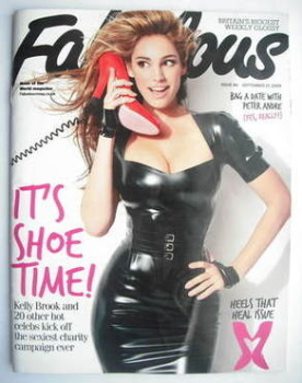 Fabulous magazine - Kelly Brook cover (27 September 2009)