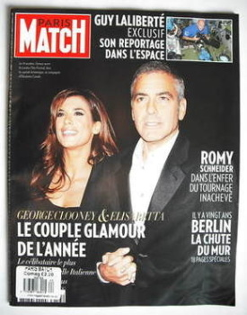 Paris Match magazine - 22-28 October 2009 - George Clooney and Elisabetta Canalis cover