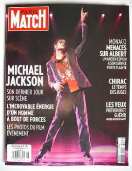 Paris Match magazine - 5-11 November 2009 - Michael Jackson cover
