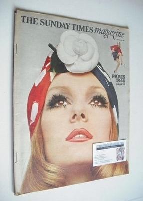 <!--1968-02-25-->The Sunday Times magazine - Nicole de Lamarge cover (25 Fe