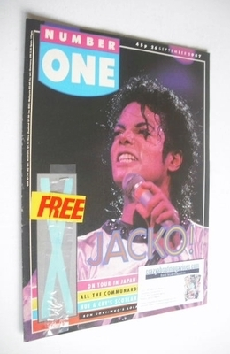 <!--1987-09-26-->NUMBER ONE magazine - Michael Jackson cover (26 September