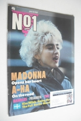 <!--1987-01-10-->No 1 magazine - Madonna cover (10 January 1987)