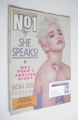 <!--1987-09-05-->No 1 magazine - Madonna cover (5 September 1987)
