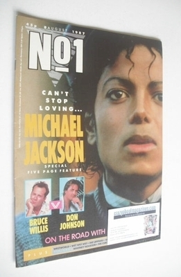 <!--1987-08-08-->No 1 Magazine - Michael Jackson cover (8 August 1987)