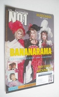 <!--1987-07-04-->No 1 Magazine - Bananarama cover (4 July 1987)