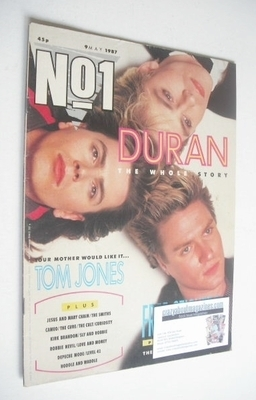 <!--1987-05-09-->No 1 Magazine - Duran Duran cover (9 May 1987)