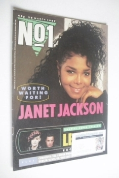 No 1 Magazine - Janet Jackson cover (28 March 1987)