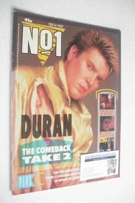 <!--1987-02-14-->No 1 Magazine - Simon Le Bon cover (14 February 1987)