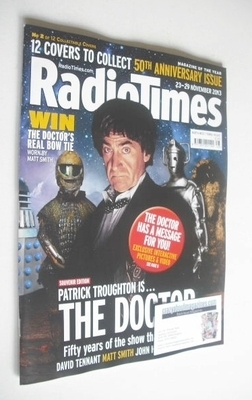 <!--2013-11-23-->Radio Times magazine - Patrick Troughton cover (23-29 Nove