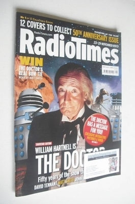 <!--2013-11-23-->Radio Times magazine - William Hartnell cover (23-29 Novem