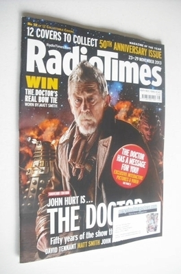 <!--2013-11-23-->Radio Times magazine - John Hurt cover (23-29 November 201