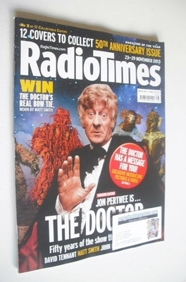 <!--2013-11-23-->Radio Times magazine - Jon Pertwee cover (23-29 November 2