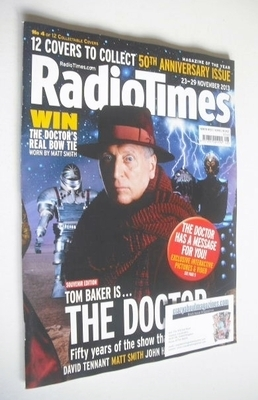 <!--2013-11-23-->Radio Times magazine - Tom Baker cover (23-29 November 201
