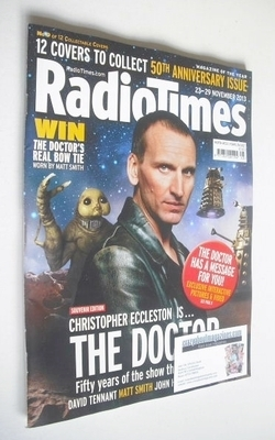 <!--2013-11-23-->Radio Times magazine - Christopher Eccleston cover (23-29