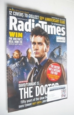 <!--2013-11-23-->Radio Times magazine - David Tennant cover (23-29 November