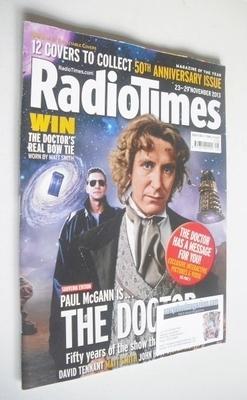 <!--2013-11-23-->Radio Times magazine - Paul McGann cover (23-29 November 2
