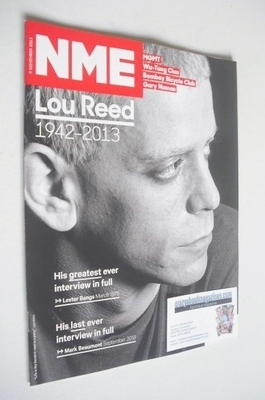 <!--2013-11-09-->NME magazine - Lou Reed cover (9 November 2013)