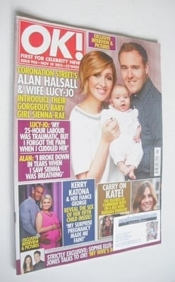 <!--2013-11-19-->OK! magazine - Alan Halsall and Lucy-Jo Hudson cover (19 N