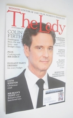 <!--2013-11-22-->The Lady magazine (22 November 2013 - Colin Firth cover)