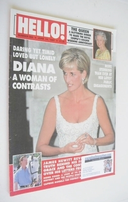 <!--1997-06-14-->Hello! magazine - Princess Diana cover (14 June 1997 - Iss