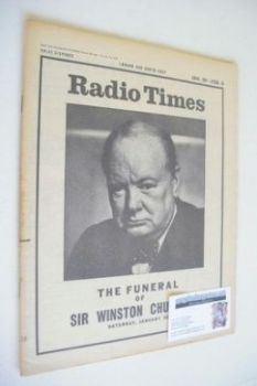 Radio Times magazine - Winston Churchill cover (28 January 1965)