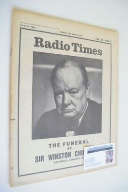 <!--1965-01-28-->Radio Times magazine - Winston Churchill cover (28 January