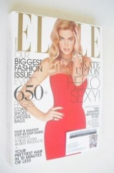 US Elle magazine - September 2013 - Kate Upton cover