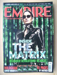 <!--2003-06-->Empire magazine - Carrie-Anne Moss cover (June 2003 - Issue 1