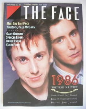The Face magazine - Tim Roth and Paul McGann cover (January 1987 - Issue 81)