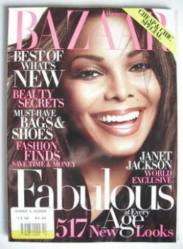 Harper's Bazaar magazine - October 2009 - Janet Jackson cover (US Edition)