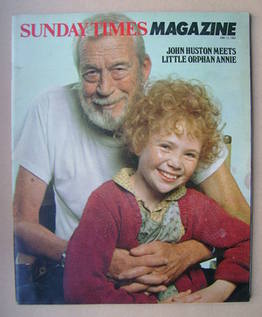 <!--1982-06-13-->The Sunday Times magazine - John Huston and Aileen Quinn c