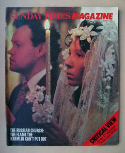 <!--1982-12-05-->The Sunday Times magazine - Church Wedding in Moscow cover