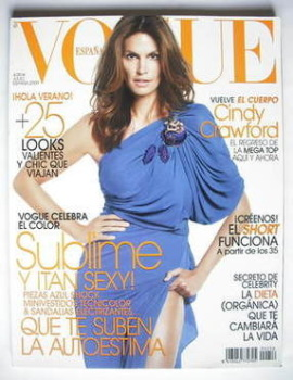 Vogue Espana magazine - July 2009 - Cindy Crawford cover