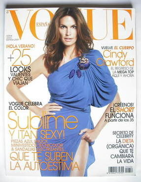 <!--2009-07-->Vogue Espana magazine - July 2009 - Cindy Crawford cover