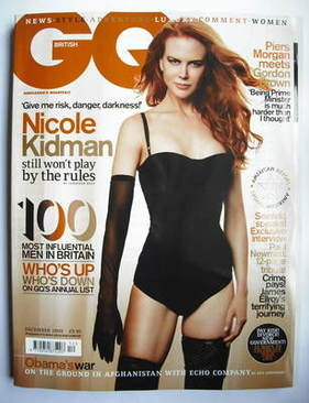 <!--2009-12-->British GQ magazine - December 2009 - Nicole Kidman cover