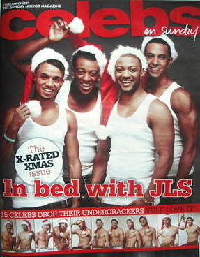 <!--2009-12-13-->Celebs magazine - JLS cover (13 December 2009)