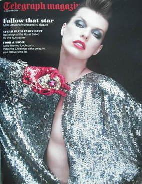 <!--2009-12-12-->Telegraph magazine - Milla Jovovich (12 December 2009)